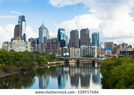 Skyline view of Philadelphia, Pennsylvania  - USA