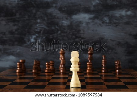 Image of chess board game. Business, competition, strategy, leadership and success concept #1089597584
