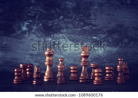 Image of chess game. Business, competition, strategy, leadership and success concept #1089600176