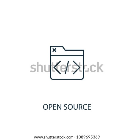 Open Source icon. Logo element illustration. Open Source symbol design from eCommerce collection. Simple Open Source concept. Can be used in web and mobile.