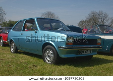 7th May 2018- A Ford Fiesta hatchback at a classic car show at the castle in Carew, Pembrokeshire, Wales, UK. #1089730205