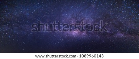 The Panorama view  Milky Way is the galaxy that contains our Solar System. Royalty-Free Stock Photo #1089960143