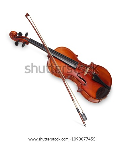 Violin isolated on white background #1090077455