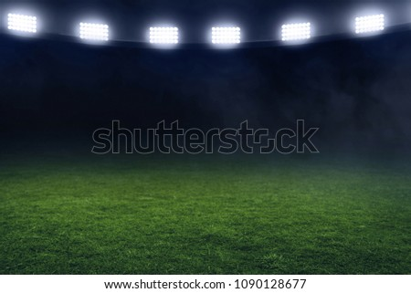 Soccer stadium field Royalty-Free Stock Photo #1090128677