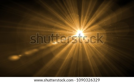 abstract glowing light sun burst with digital lens flare background. effect decoration with ray