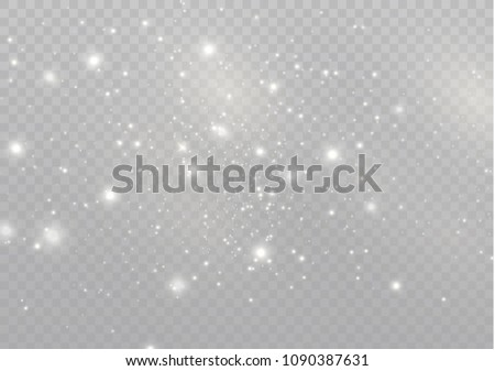 White sparks glitter special light effect. Vector sparkles on transparent background. Christmas abstract pattern. Sparkling magic dust particles #1090387631