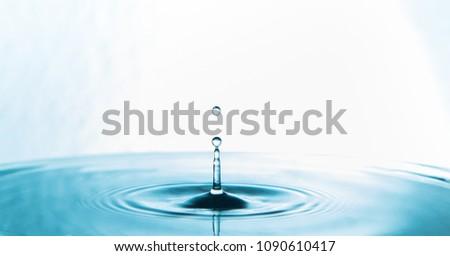 Water Drop.Water splash or water drop. #1090610417