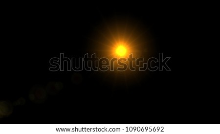 Lens Flare , Abstract overlays background. #1090695692