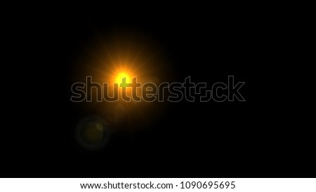 Lens Flare , Abstract overlays background. #1090695695