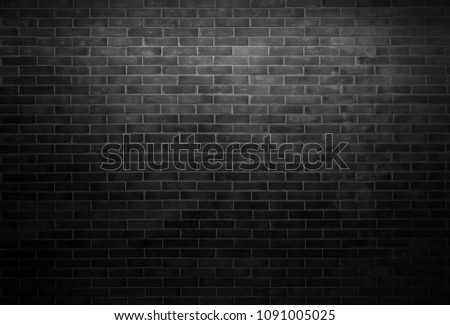 Black wall background The surface of the brick dark jagged. Abstract black wall background #1091005025
