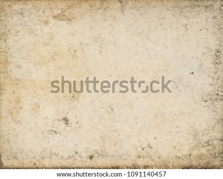 Used paper sheet. Grungy cardboard texture #1091140457