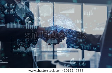 Business and technology concept. Royalty-Free Stock Photo #1091147555