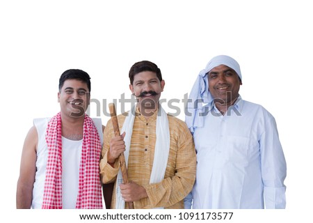 Portrait of indian farmer Royalty-Free Stock Photo #1091173577