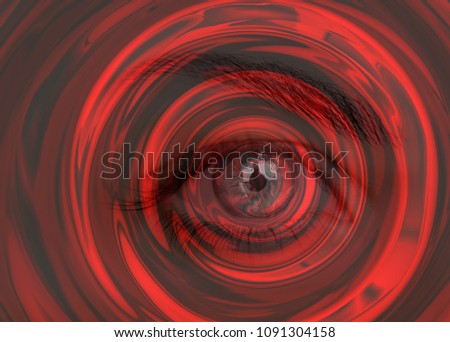 Hypnosis Spiral in eye