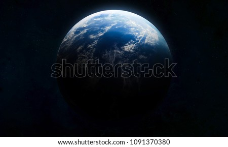 Earth in the outer space collage. Abstract wallpaper. Our home. Elements of this image furnished by NASA