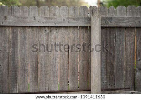 Old wooden fence close up #1091411630