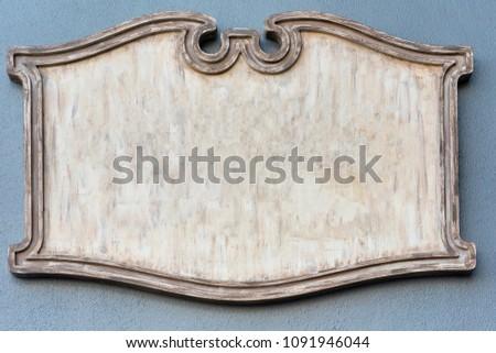 blank plaque background