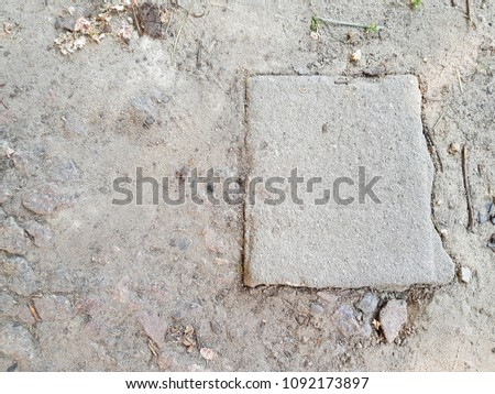 Cobble Stone Road In Lines Background #1092173897