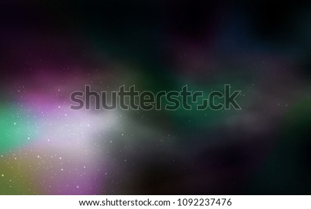 Dark Green vector background with galaxy stars. Modern abstract illustration with Big Dipper stars. Smart design for your business advert. #1092237476