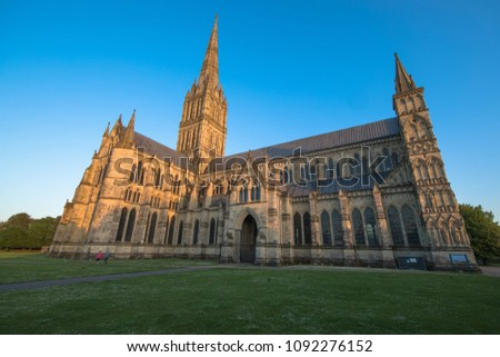Views of Salisbury Cathedral, Salisbury, Dorset, UK #1092276152