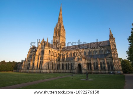 Views of Salisbury Cathedral, Salisbury, Dorset, UK #1092276158