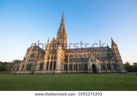 Views of Salisbury Cathedral, Salisbury, Dorset, UK #1092276203