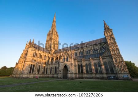 Views of Salisbury Cathedral, Salisbury, Dorset, UK #1092276206