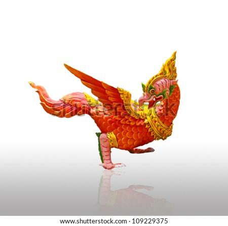 Bird sculptures in mythology, bird animals in Thai literature. #109229375