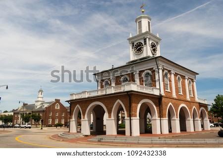 Fayetteville North Carolina Downtown City Center Hay Street #1092432338