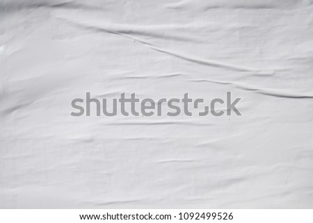 minimal natural white creased paper texture #1092499526