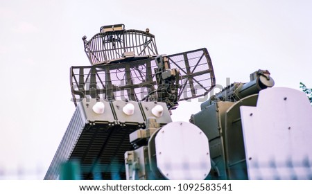 Air defense radar installation military, Russia, complexes of radio interference, air defense, air forces of the Russian Federation in Syria #1092583541