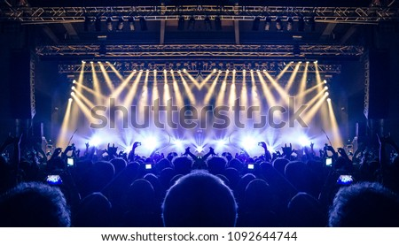 Live music event inside a venue #1092644744