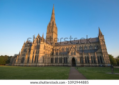 Views of Salisbury Cathedral, Salisbury, Dorset, UK #1092944885