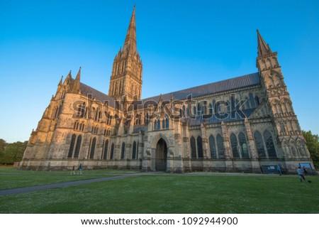 Views of Salisbury Cathedral, Salisbury, Dorset, UK #1092944900