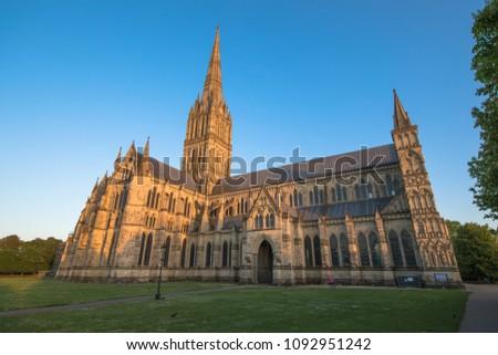 Views of Salisbury Cathedral, Salisbury, Dorset, UK #1092951242