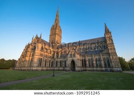 Views of Salisbury Cathedral, Salisbury, Dorset, UK #1092951245