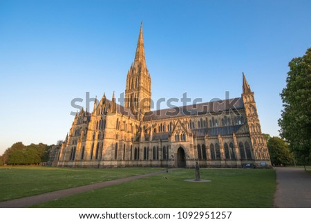Views of Salisbury Cathedral, Salisbury, Dorset, UK #1092951257