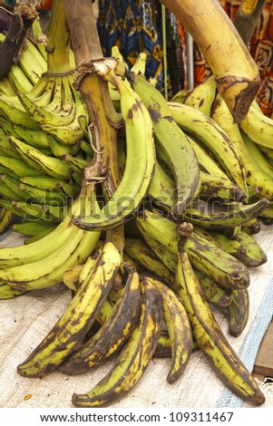 Plantains at Outdoor Market in Accra Ghana #109311467