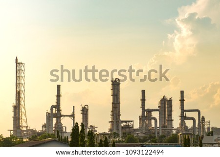 Refinery with sky with clouds #1093122494