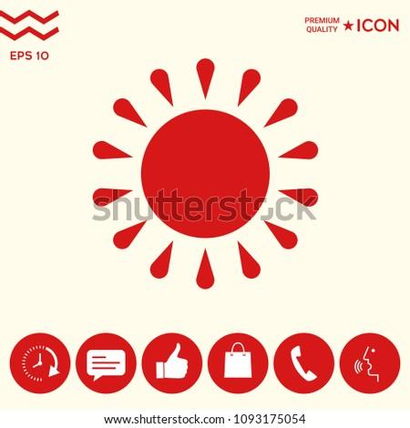 Sun icon symbol #1093175054