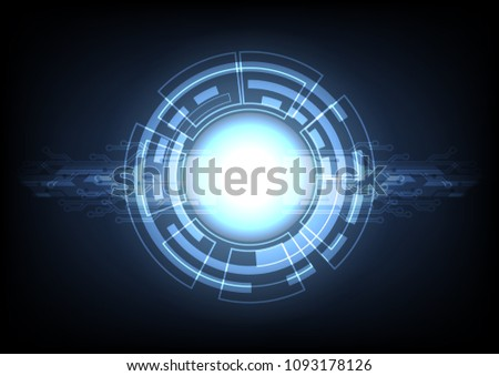 Abtract Technology background, cyber security concept, Sci fi futuristic background, Vector illustration. #1093178126