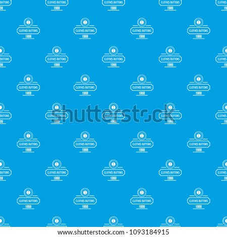 Clothes button service pattern vector seamless blue repeat for any use #1093184915