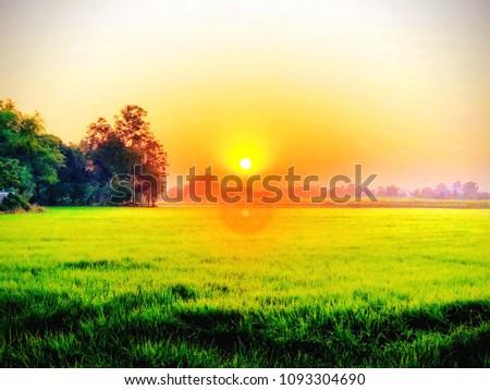 Colorful morning sunrise #1093304690