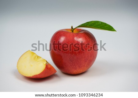 Red apple on white background #1093346234