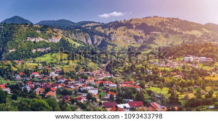 Landscape in Transylvania, Carpathian Mountains, Romania. #1093433798