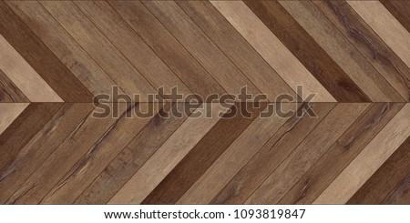 Seamless wood parquet texture (horizontal chevron brown)