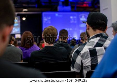 Event with different people sitting in rows #1094049125