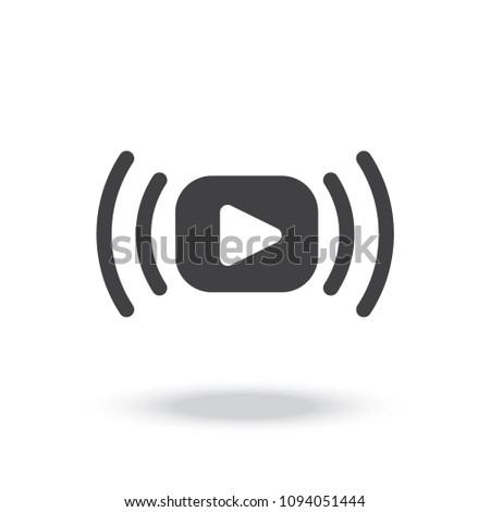 Video stream vector icon Royalty-Free Stock Photo #1094051444