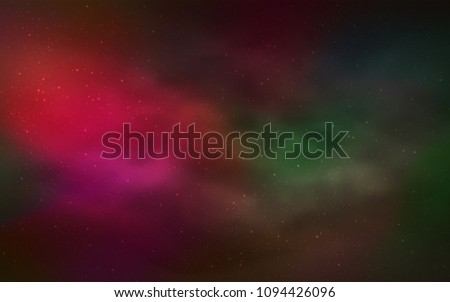 Dark Green, Red vector template with space stars. Modern abstract illustration with Big Dipper stars. Smart design for your business advert. #1094426096