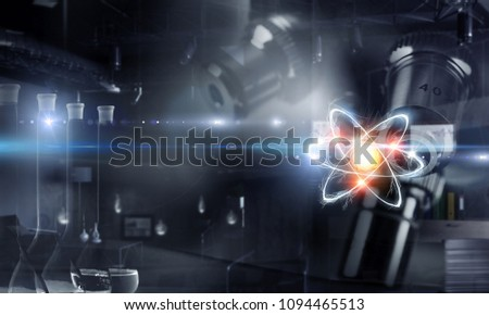 Science technology concept. Mixed media #1094465513